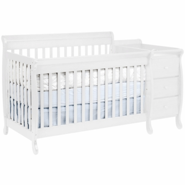 Davinci Kalani Crib & Changer with Toddler Rail with White