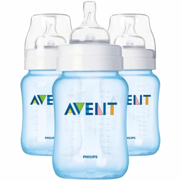 Avent 9 Ounce BPA Free 3 Pack Bottles in Blue