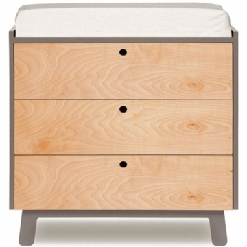 Oeuf Sparrow Collection 3 Drawer Dresser in Grey/Birch