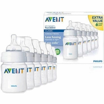 Avent 9 oz BPA Free 6 Pack Bottles