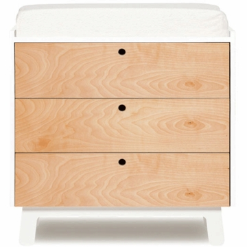 Oeuf Sparrow Collection 3 Drawer Dresser in White/Birch