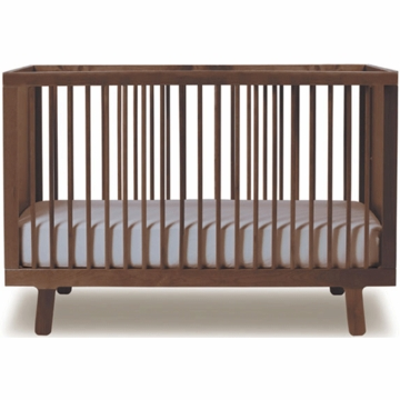 Oeuf Sparrow Collection Crib in Walnut