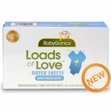 BabyGanics Bio Fabric Softener Sheets 120ct