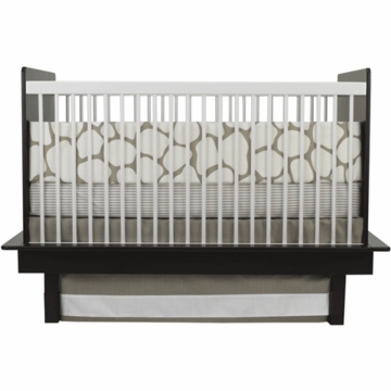 Oilo Cobblestone 3 Piece Crib Bedding Set in Taupe