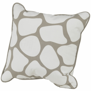 Oilo Cobblestone Pillow in Taupe- 13� x 17�