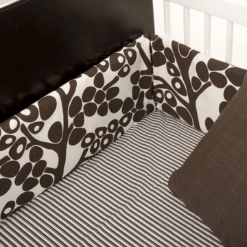Oilo Crib Sheet in Brown