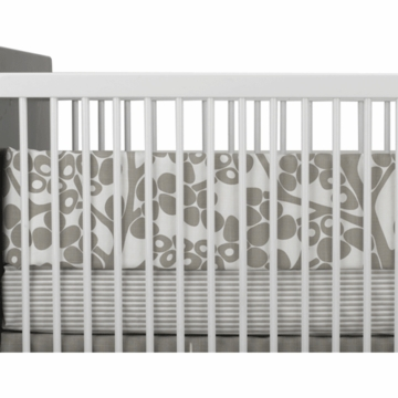 Oilo Crib Sheet in Taupe