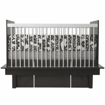 Oilo Modern Berries 3 Piece Crib Set in Brown