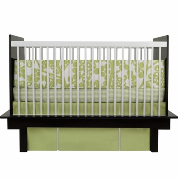Oilo Modern Berries 3 Piece Crib Bedding Set in Spring Green