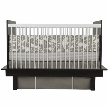 Oilo Modern Berries 3 Piece Crib Bedding Set in Taupe