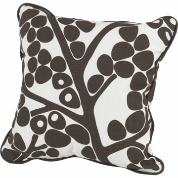 Oilo Modern Berries Pillow in Brown- 13� x 17�
