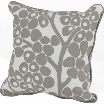 Oilo Modern Berries Pillow in Taupe- 13� x 17�