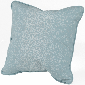 Oilo Raindrops Pillow in Aqua- 20� x 20�