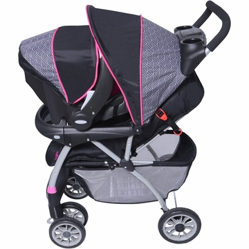 Evenflo Journey 300 Stroller with Embrace 35 Car Seat - Pink Party