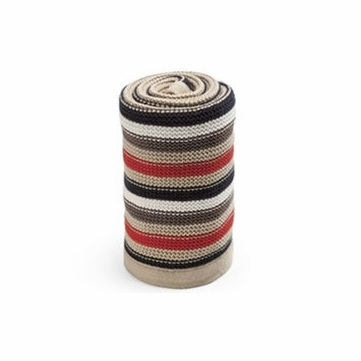 Stokke Xplory Knitted Blanket - Brown Multi Stripe
