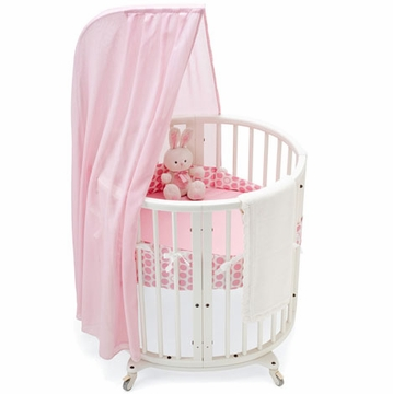 Stokke Sleepi Dots Pink 4 Piece Mini Crib Bedding Set
