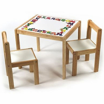 Lipper International Children's ABC Table & Chairs Set