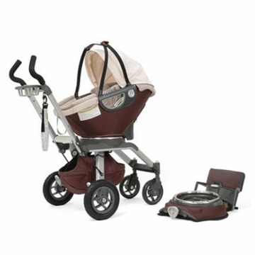 Orbit Baby Infant Car Seat Stroller System in Mocha and Khaki