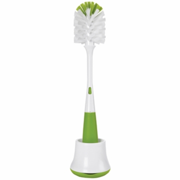 OXO Tot Bottle Brush with Nipple Cleaner & Stand in Green