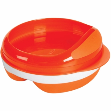 OXO Tot Divided Feeding Dish in Orange