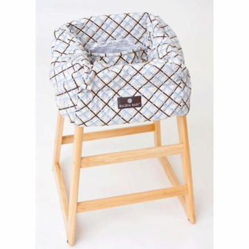 Balboa Baby Shopping Cart Cover in Blue Plaid