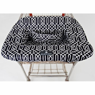Balboa Baby Shopping Cart & High Chair Cover - Geo - Black & White