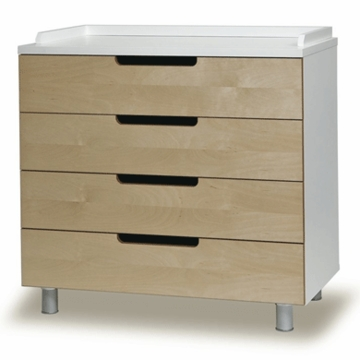 Oeuf Classic Collection 4 Drawer Dresser in Birch