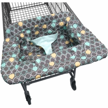 JJ Cole Shopping Cart Cover - Aqua Drops