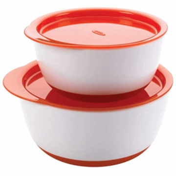 OXO Tot Small & Large Bowl Set in Orange