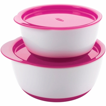 OXO Tot Small & Large Bowl Set in Pink