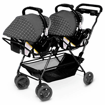 Swan Snap N Go Double Stroller Frame in Black