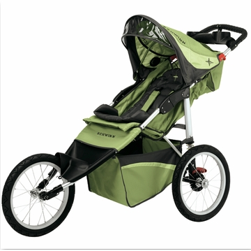 Schwinn Arrow Fixed Jogging Stroller-Single  Green/Gray