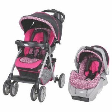 Graco Alano Travel System Greer 7F15GRJ3 Pink/Black
