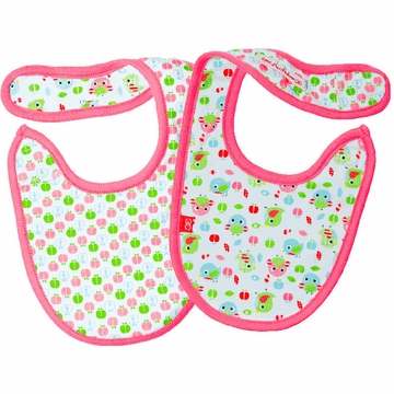 Magnificent Baby 2-Ply Bibs - Girl's Birds / Apples