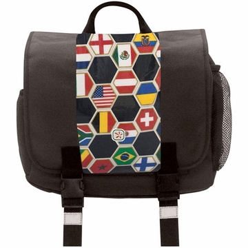Fleurville Kid's Messenger - Black/World Flag