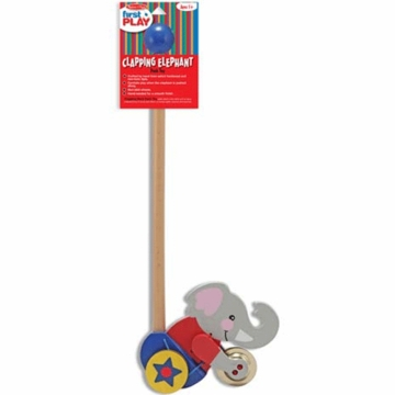 Melissa & Doug Clapping Elephant Push Toy