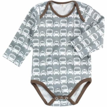 DwellStudio Cars Grey Long Sleeve Bodysuit 6-12 Months