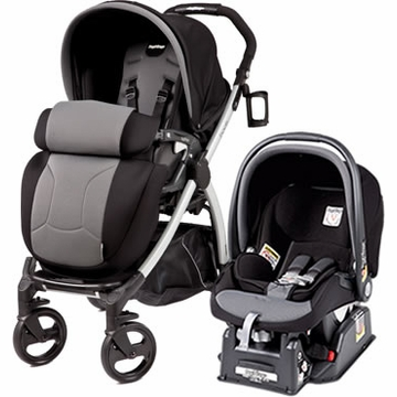 Peg Perego Book Plus & Viaggio Travel System - Stone (Black)