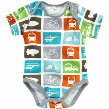 DwellStudio Transportation Multi Short Sleeve Bodysuit 6-12 Months