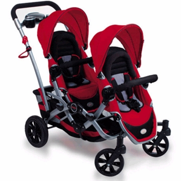 Contours Option Tandem Stroller in Ruby