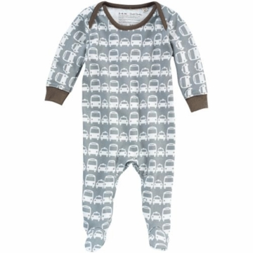 DwellStudio Cars Grey Long Sleeve Footie Playsuit 0-3 Months