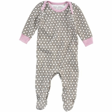 DwellStudio Starbust Chocolate Long Sleeve Footie Playsuit 3-6 Months