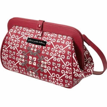 Petunia Pickle Bottom Cross Town Clutch in Travel Through Tivoli