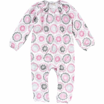 DwellStudio Zinnia Rose Long Sleeve Playsuit 6-12 Months