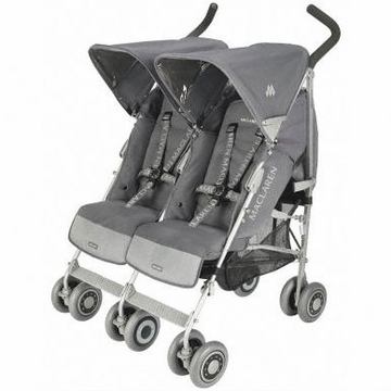 Maclaren 2010 Twin Techno Charcoal with Charcoal Frame