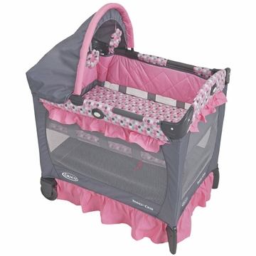 Graco Travel Lite Crib with Bassinet - Ally with FREE Crib Sheet