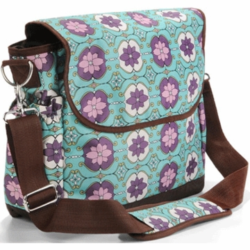 Timi & Leslie Messenger Diaper Bag in Farah