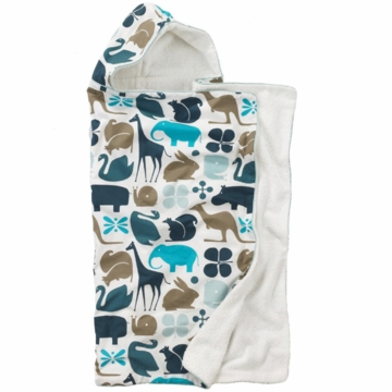 DwellStudio Hooded Towel in Gio Aqua