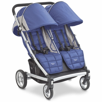 Valco Zee for 2 Double Stroller - Blue Opal