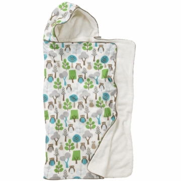 DwellStudio Hooded Towel in Owls Sky
